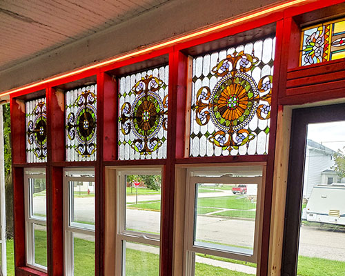 New Stained Glass Porch Windows.
