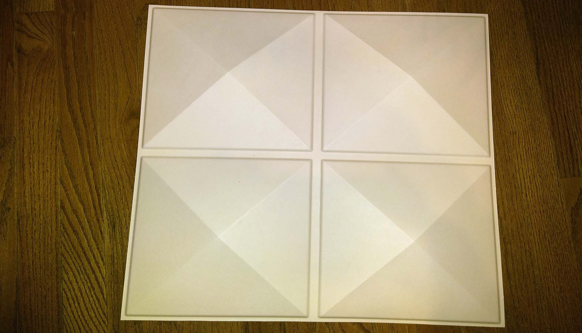 Here is a wall panel with a diamond pattern.