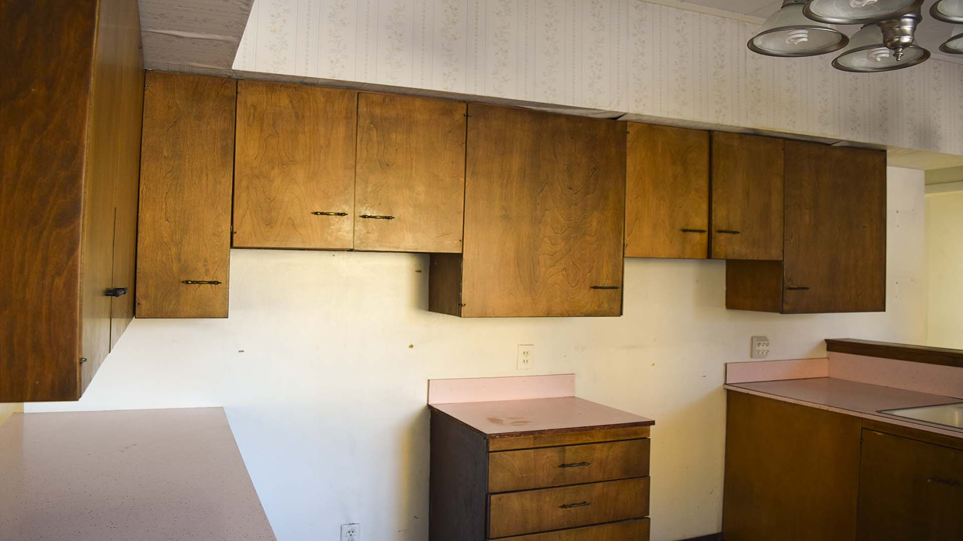 Lots of cabinets. They wiil be good in the garage.